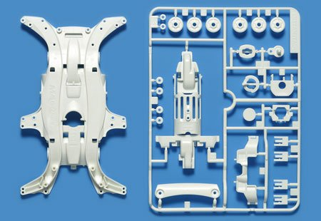 タミヤ ミニ四駆特別企画 MA強化シャーシセット ホワイト 95283の詳細を見る