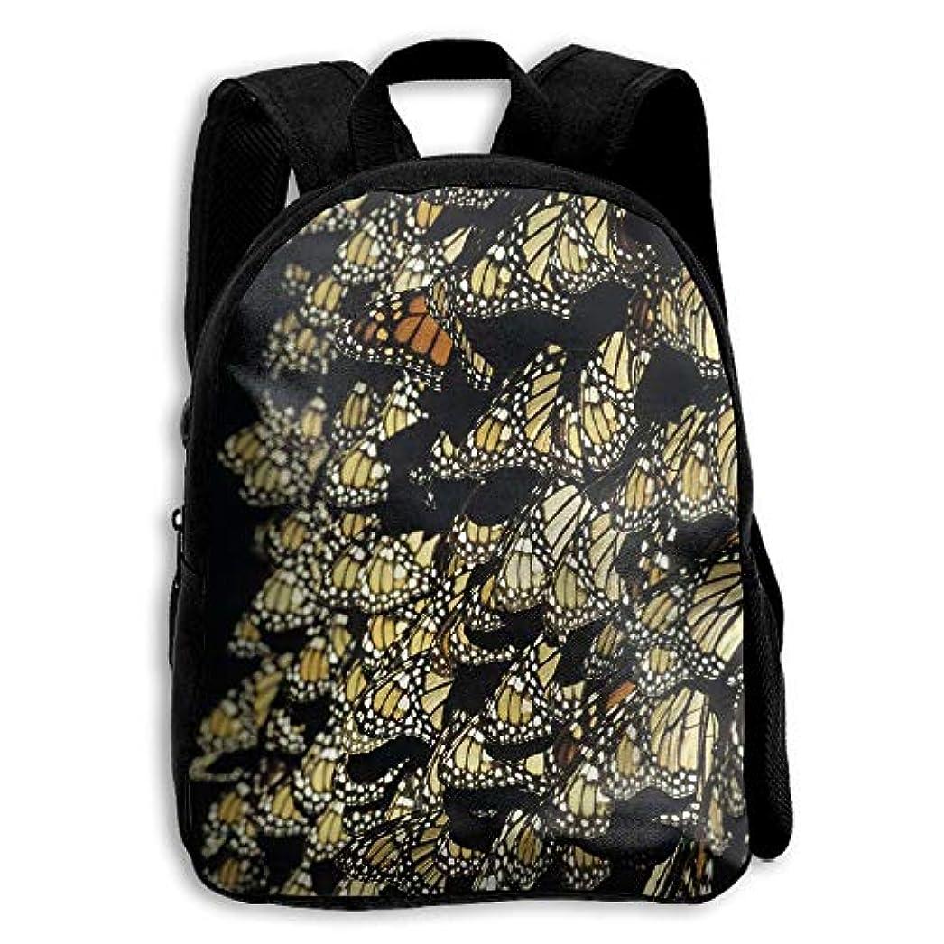 アルミニウム達成温かいキッズ バックパック 子供用 リュックサック 蝴蝶パターン ショルダー デイパック アウトドア 男の子 女の子 通学 旅行 遠足