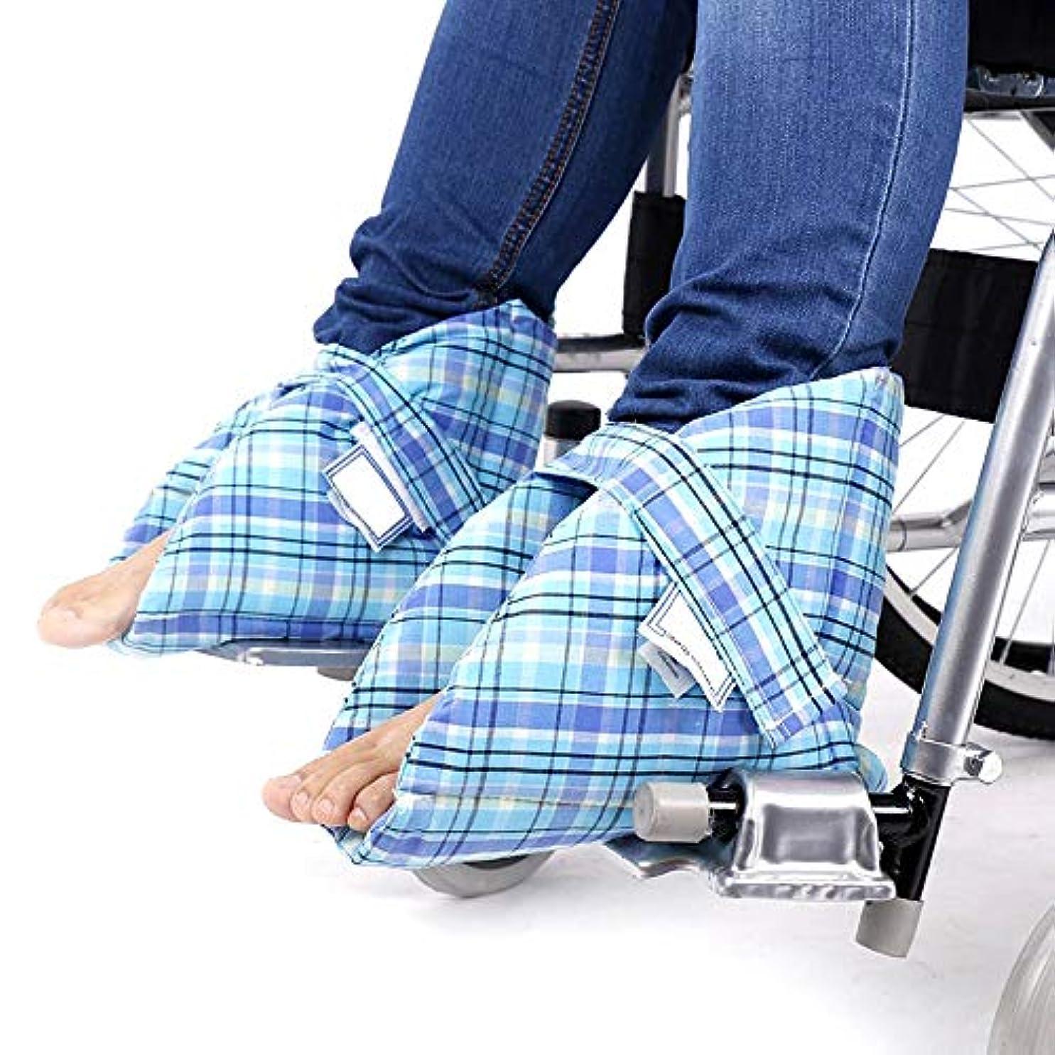 宗教的な格納マイクロフォン褥瘡および腱の残りのための医療用ヒールクッションプロテクター - 車椅子高齢者足首保護枕 - 1ペア
