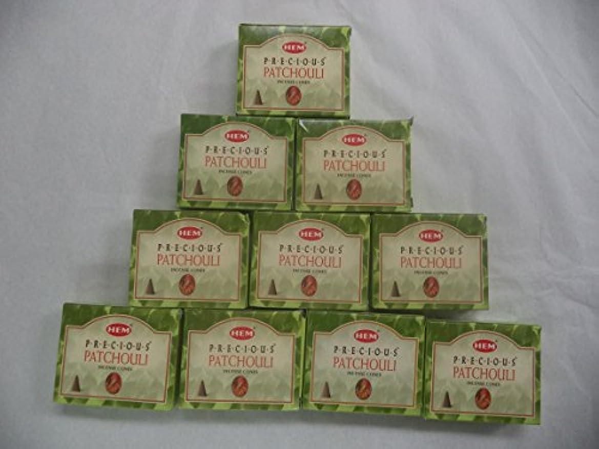 HEM Incense Cones: Precious Patchouli - 10 Packs of 10 = 100 Cones by Hem