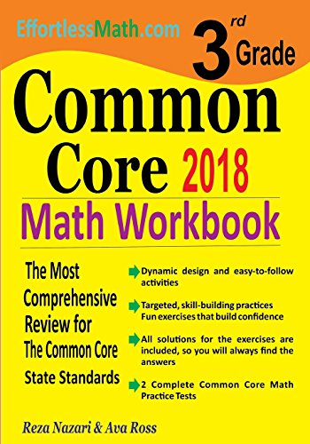 Download 3rd Grade Common Core Math Workbook: The Most Comprehensive Review for the Common Core State Standards 1986177181