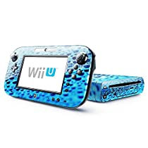 Photo Art 001, Water Drops, Skin Sticker Vinyl Cover with Leather Effect Laminate and Colorful Design for Nintendo Wii U by Virano [並行輸入品]