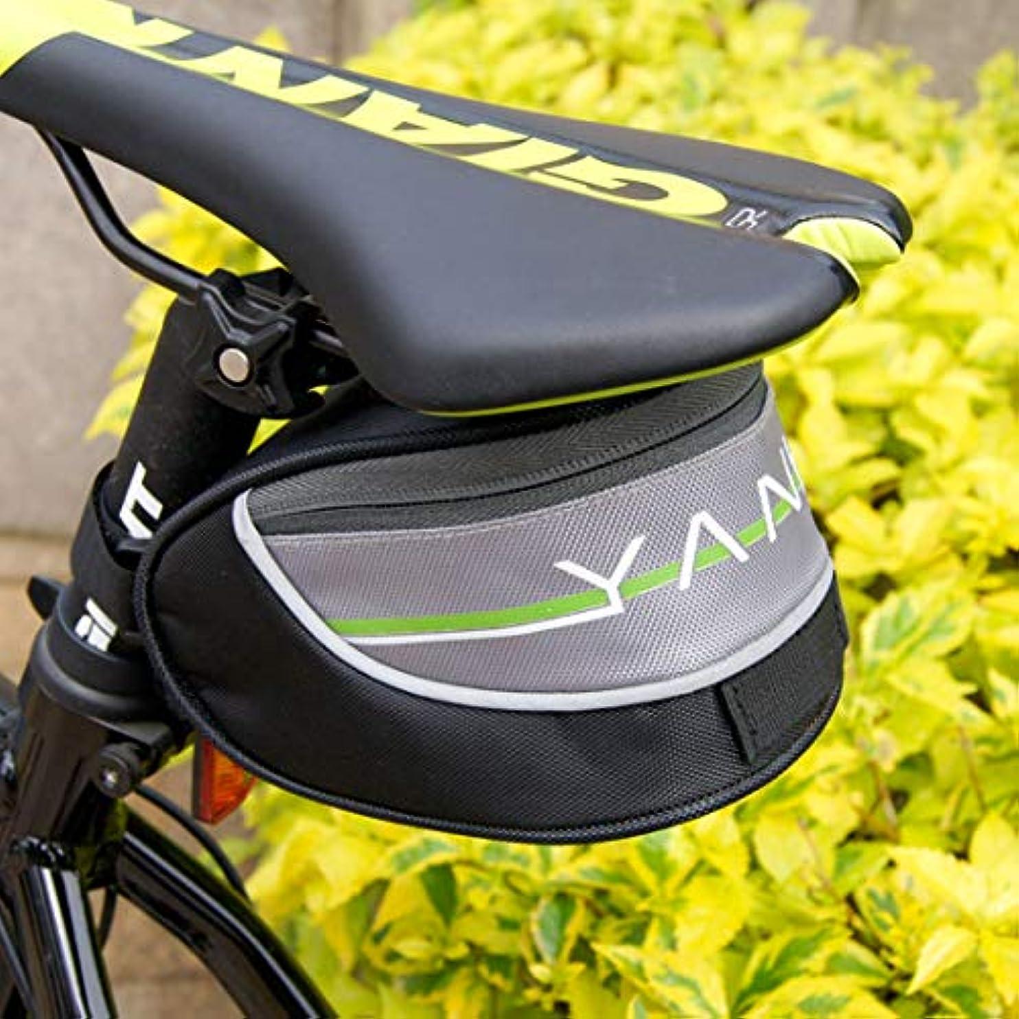 付属品船尾ベーリング海峡CAFUTY MTBロードバイクアクセサリーシートポストバッグテールリアポーチバッグ自転車バッグバイクサドルバッグトライアングル防雨 (Color : ブラック)