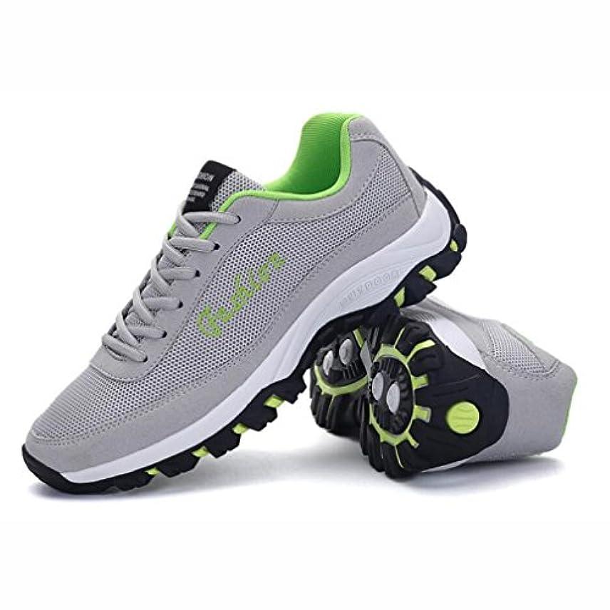 失業者基本的なにぎやかメンズランニングスニーカー、カジュアルスニーカー、軽量通気性スポーツジムシューズ、メッシュトレーナースポーツシューズ、快適な靴、ブラック、グレー (色 : A, サイズ : 40)