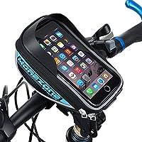 自転車 フレームバッグ MOREZONE 5.5インチ 自転車 スマホ ホルダー サドルバッグ 収納アクセサリー ロードバイク携帯ホルダー