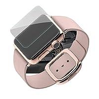 Apple Watch 42mm Series 2 / Series 1 強化ガラス ガラスフィルム 日本旭硝子製素材 衝撃吸収 9H硬度 飛散防止 気泡レス 指紋防止 2.5D ラウンドエッジ アップル ウォッチ 液晶保護フィルム (クリア)