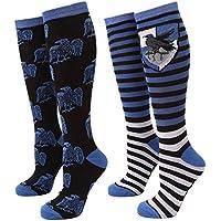 Harry Potter Striped Ravenclaw Raven Women's 2-pack Knee High Socks