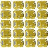 SONONIA 約20個 猫/犬/ペット 粘着包帯ガーゼ テープ ラップ 爪のプリント 黄色