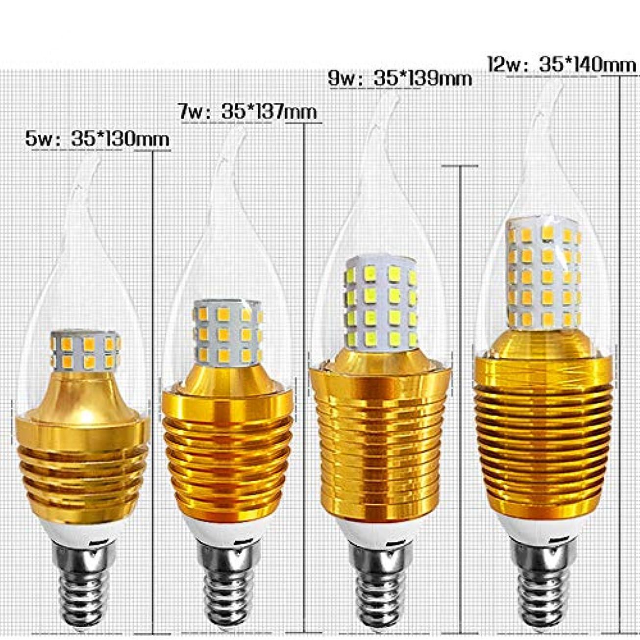 さわやか変化する最大BEESCLOVER LEDキャンドルシェイプダブルカラーライトチェンジゴールドカラーフィラメント電球E14 85-265V