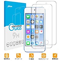 Apple iPod touch 7 / 6 / 5液晶保護ガラスフィルム 2枚セット入り Olycism Apple iPod touch 6 日本旭硝子素材採用 高透過率 薄型 硬 9H 飛散防止処理 自動吸着 貼り易い 液晶保護シート クリア