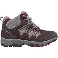 Grey and brown Hi-Tec Women's Florence Mid Walking Boot