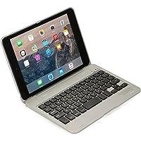 iPad Mini Mini2 Mini3 用 キーボード ケース COOPER KAI SKEL Bluetooth ワイヤレス キーボード ポータブル ラップトップ Macbook クラムシェル ケース カバー 13 ショートカットキー付き Apple iPad Mini 第1世代 第2世代 第3世代 アイパッド ミニ 用 (グレー)