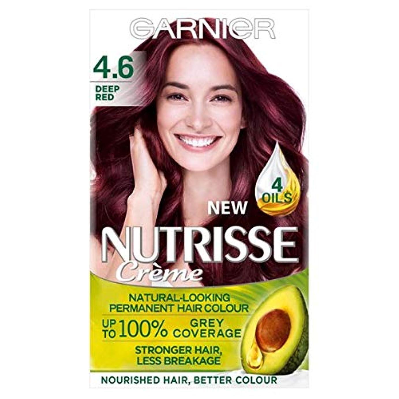 藤色飼料粉砕する[Nutrisse] ガルニエNutrisse 4.6深紅パーマネントヘアダイ - Garnier Nutrisse 4.6 Deep Red Permanent Hair Dye [並行輸入品]