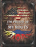 Im Proud of My Roots: Vintage Filipino and American Flag Personalized Gift for Coworker Friend  Lightly Lined Pages Daily Journal Diary Notepad