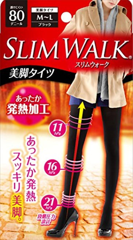 オペラフレームワーク意志に反するスリムウォーク 美脚タイツ 80デニール M-Lサイズ ブラック