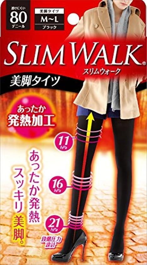 スツールお気に入り慢性的スリムウォーク 美脚タイツ 80デニール M-Lサイズ ブラック