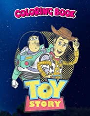 Coloring Book: Pixar Toy Story Buzz Woody Distressed Retro Tank Top, Children Coloring Book, 100 Pages to Colo