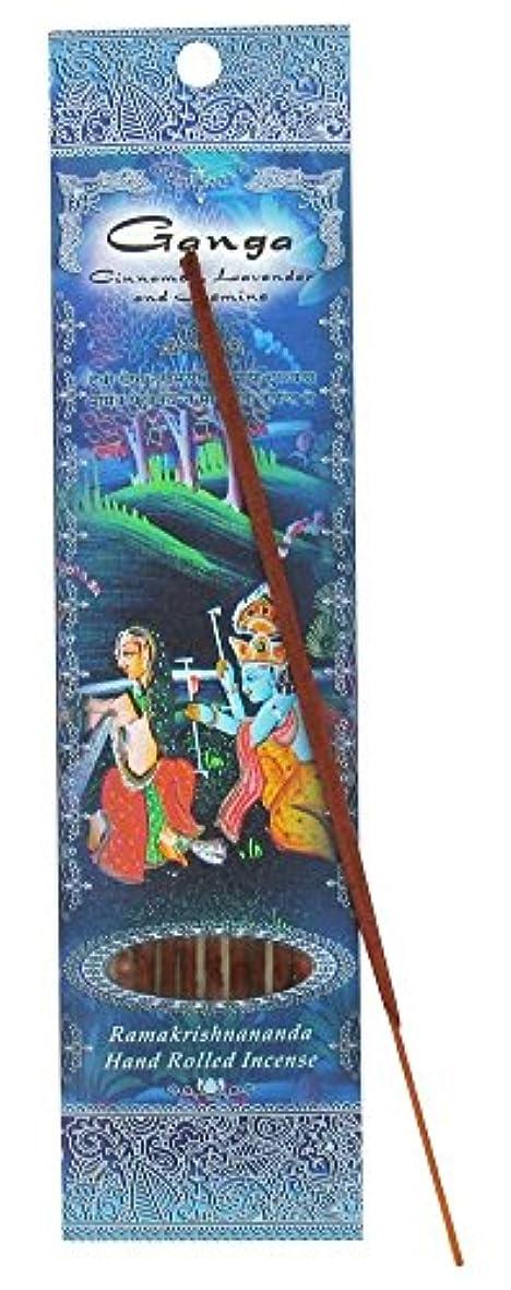 韓国時刻表食べる(Ganga, 1) - Ramakrishna Incense Sticks, Ganga, Cinnamon, Lavender, & Jasmine, Single Pack