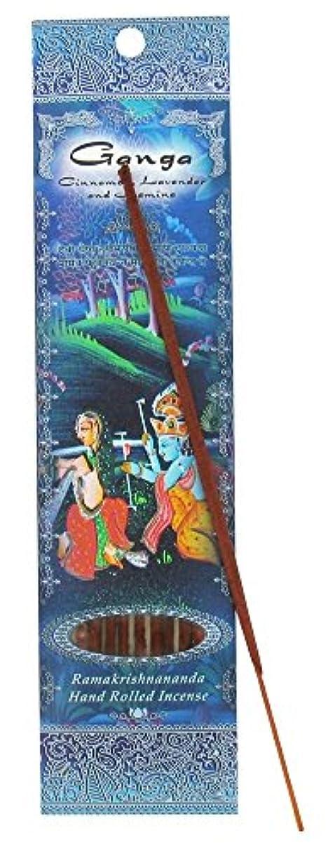 ドラゴン女の子自発的(Ganga, 1) - Ramakrishna Incense Sticks, Ganga, Cinnamon, Lavender, & Jasmine, Single Pack