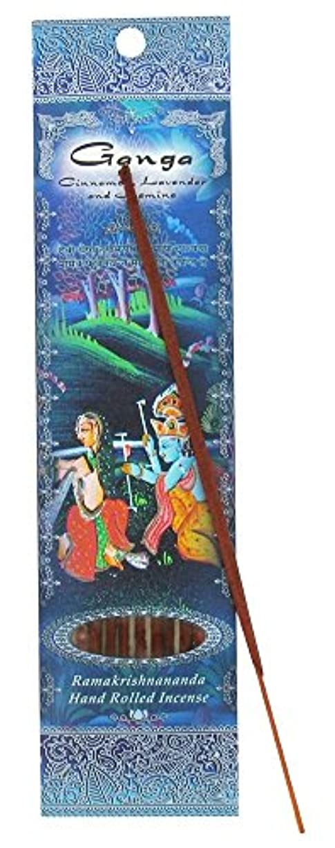 塩辛い免除する混乱した(Ganga, 1) - Ramakrishna Incense Sticks, Ganga, Cinnamon, Lavender, & Jasmine, Single Pack