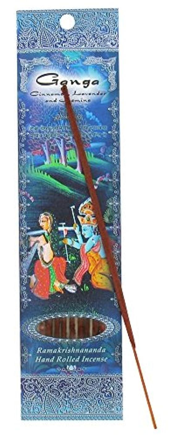 トレードバーター割れ目(Ganga, 1) - Ramakrishna Incense Sticks, Ganga, Cinnamon, Lavender, & Jasmine, Single Pack
