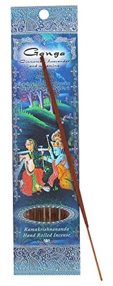 小売繊細確認する(Ganga, 1) - Ramakrishna Incense Sticks, Ganga, Cinnamon, Lavender, & Jasmine, Single Pack