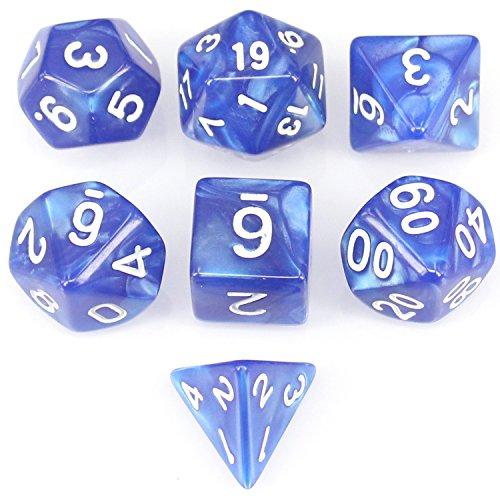 アイディアおもちゃ青い7個 ダイス クトゥルフ ボードゲーム カードゲーム用 ダイス セット サイコロ