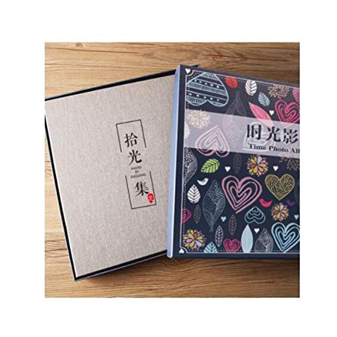 政治的エキゾチックウィンクHKXR フォトアルバム自己接着剤18インチ、手作りホームアルバム、 (Color : B, Size : 33*32cm)