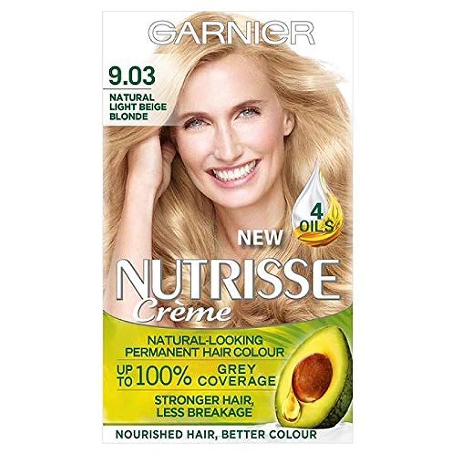 小康傾向南方の[Garnier ] 9.03ガルニエNutrisse永久的な毛髪染料ライトベージュブロンド - Garnier Nutrisse Permanent Hair Dye Light Beige Blonde 9.03 [...