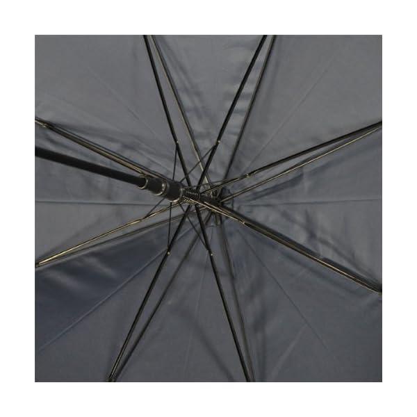 紳士傘 グラスファイバー 長傘 紺 65cmの紹介画像5
