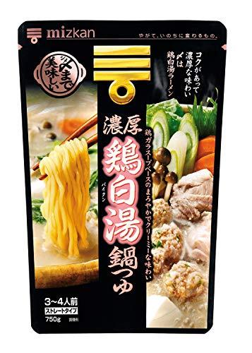 ミツカン 〆まで美味しい濃厚鶏白湯鍋つゆ ストレート 750g×4個