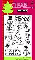 "Hero Arts Clear Stamps Snowman Christmas/クリアスタンプ スノーマンクリスマス (4""x6"")"