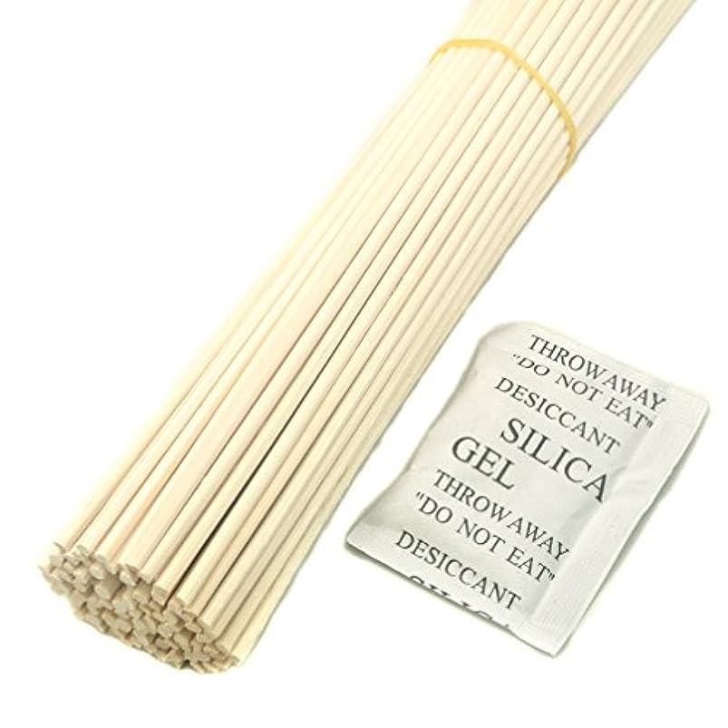 50本入自然なリードの拡散器の棒, アロマテラピーエッセンシャルオイル用 (20cm*3mm, 自然な色)