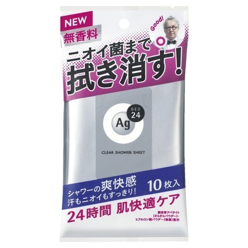 Agデオ24 クリアシャワーシートNa 無香料 10枚入 ≪...
