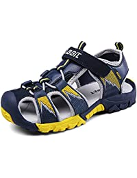 XIANV 夏 ボーイズ ビーチ サンダル キッズ シューズ 通気性 つま先保護 スポーツ サンダル 子供 靴