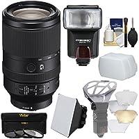 Sonyアルファe-mount FE 70–300mm f / 4.5–5.6G OSSズームレンズwith 3UV / CPL / nd8フィルタ+フラッシュ+ディフューザー+ソフトボックス+ Bouncer +キット