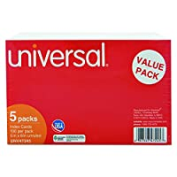 Unruled Index Cards, 5 x 8, White, 500/Pack (並行輸入品)