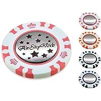 ポーカー カジノチップ スタイル ダブル ゴルフマーカー 名入れ 刻印 星柄 デザイン