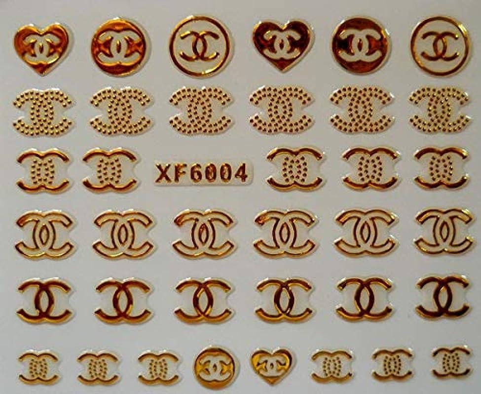 一般的に途方もない吸収剤自己粘着ネイルステッカーデザインアートDecoprationロゴステッカーデカールDiyファッションアートゴールドカラー有名な花のステッカー、6004