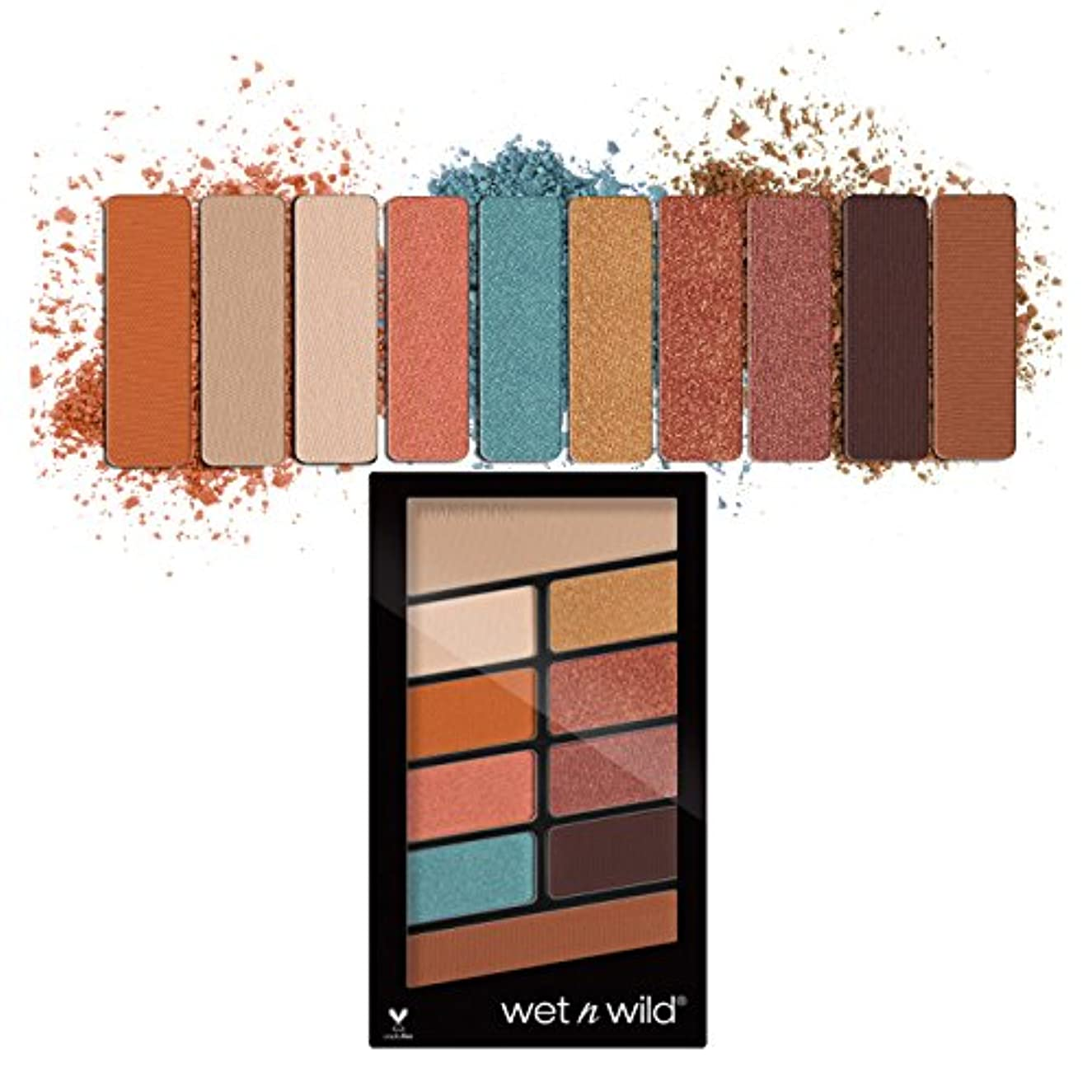 抗議軽食開示する(3 Pack) WET N WILD Color Icon Eyeshadow 10 Pan Palette - Not A Basic Peach (並行輸入品)