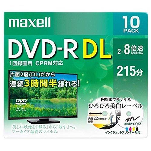 DVD-R DL 8倍速対応 10枚パック 日立マクセル DRD215WPE.10S