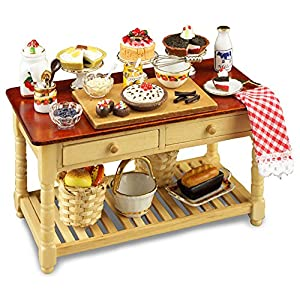 【ロイターポーセリン】【ミニチュア】 ケーキ ワーキングテーブル RP1727-1