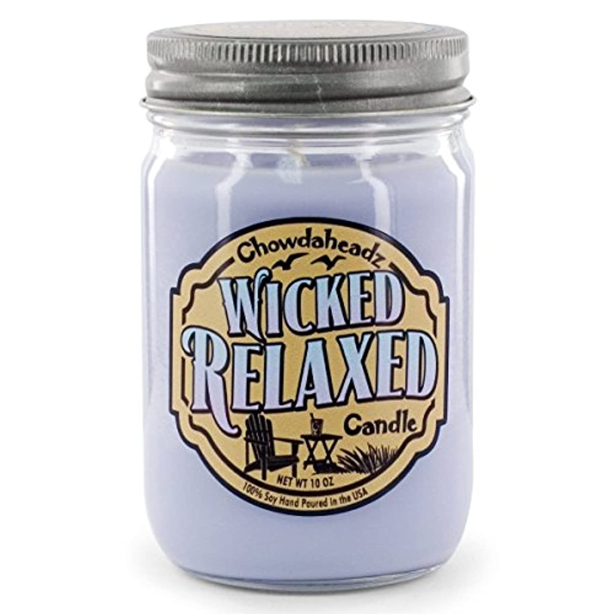 Wicked Relaxed Candle 100 %大豆、すべての自然、Made in the USA by Chowdaheadz