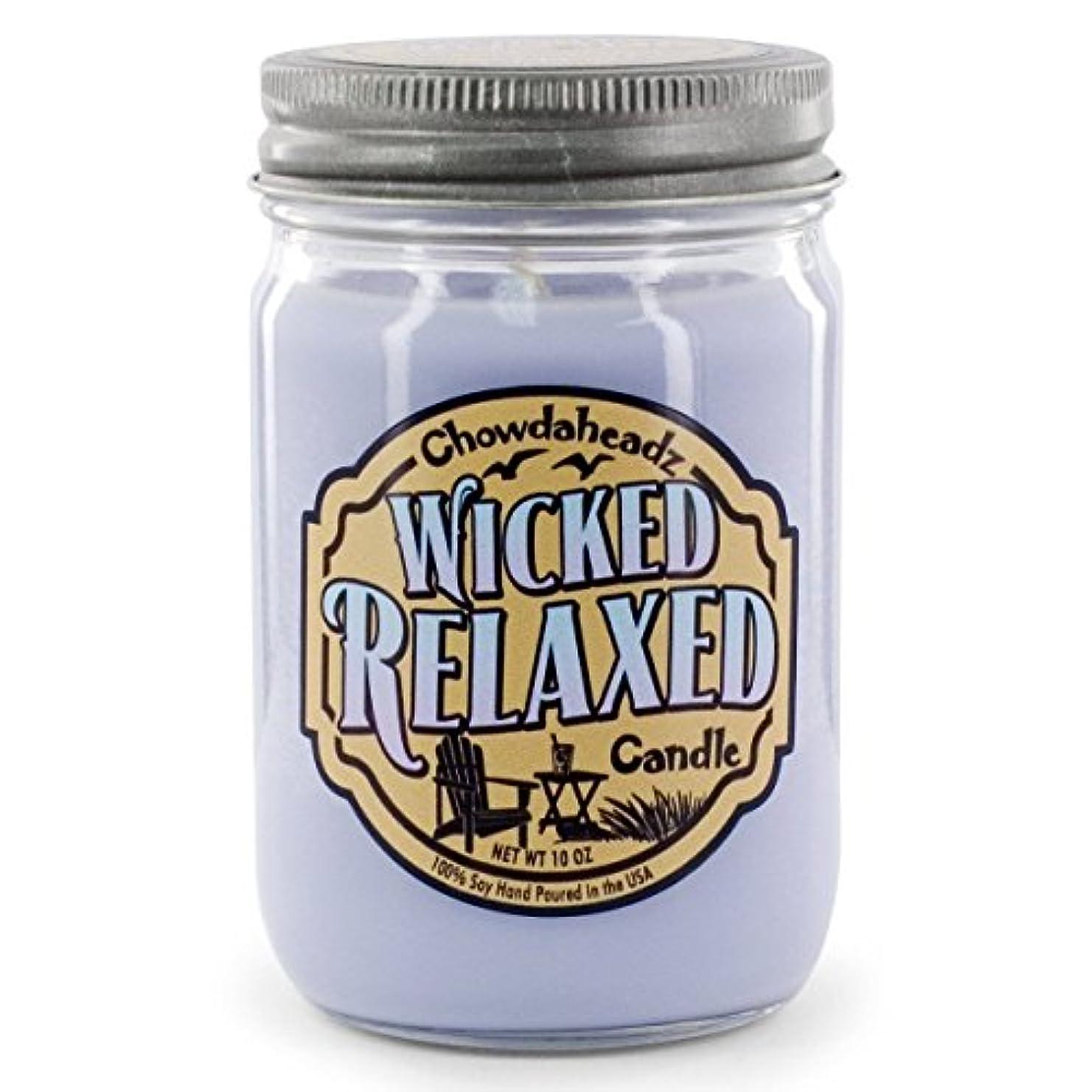 展示会信頼できる持つWicked Relaxed Candle 100 %大豆、すべての自然、Made in the USA by Chowdaheadz