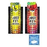 JUST★FIT(ジャストフィット) 2 箱セット(Lサイズ, XLサイズ) + 1回使い切り水溶性潤滑ローション