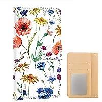 [FFANY] iPhone 11 PU手帳型 ミラータイプ [ボタニカル・ホワイト] 花柄 アイフォン イレブン スマホケース 携帯カバー floral-077@01m