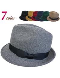 ノーブランド品 シンプルフェルト中折(M) ヤング帽子