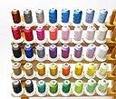 Simthread ミシン用の糸 刺繍糸 ソーイング糸 40色セット1玉あたり500M