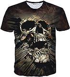 (ピゾフ)Pizoff メンズ Tシャツ 半袖 欧米風 髑髏柄 ストリート ファッション ゴシック様式 カジュアル トップスY1730-J3-M