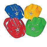 Plastic Bright Colored Cowboy Hats (1 dz) by Fun Express [Toy] [並行輸入品]